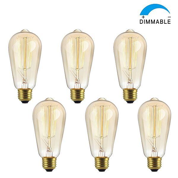 Vintage Edison Bulb 60W Antique Style Light Bulb $5.99 AC FS with Prime