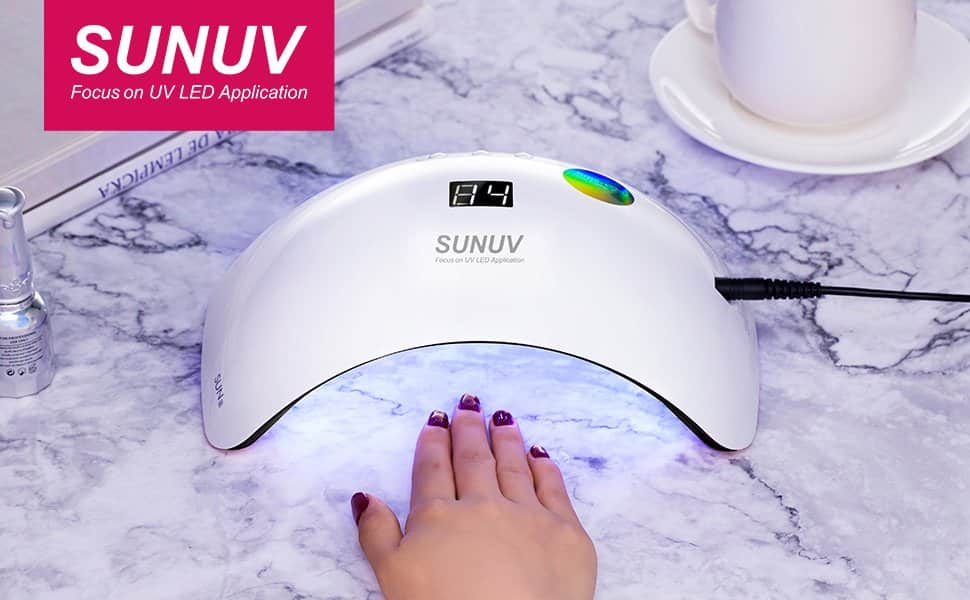 SUNUV portable dual optical wavelength(365nm+405nm) with 3 timers Lamp Nail Dryer $19.83 AC on Amazon Free Shipping w/ Prime
