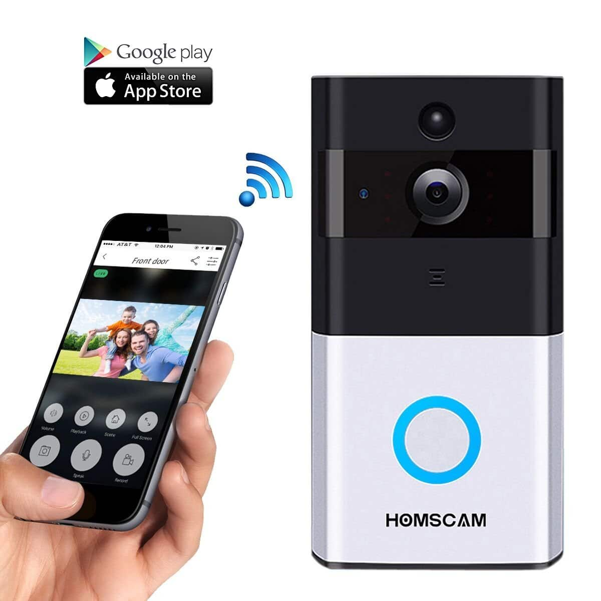 HOMSCAM Wireless Door Bell Smart WiFi Camera on Amazon $69.99 AC w/ Free Prime Shipping
