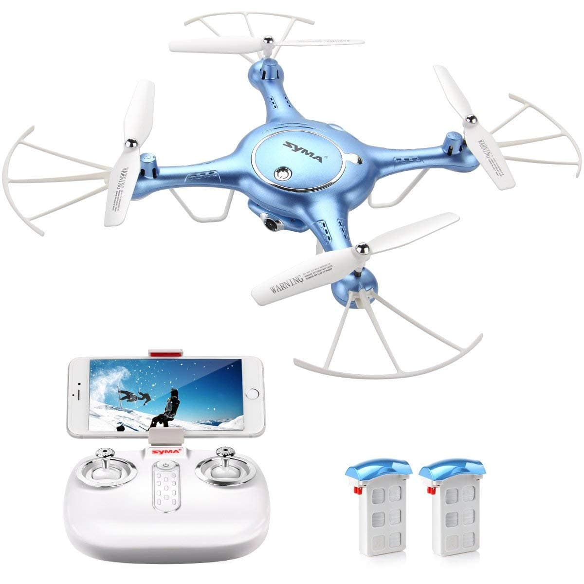 Syma Quadcopter Drone w/ 720P HD Live Video Camera feed in fpv Bonus Battery Included $56