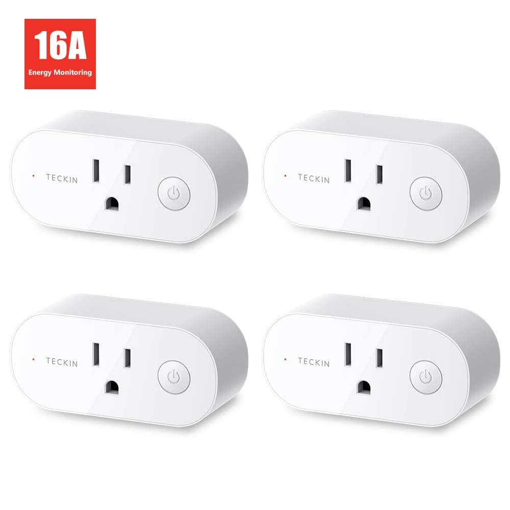 Teckin Smart Plug Wifi Outlet 16A  with Energy Monitoring (4 Pack)