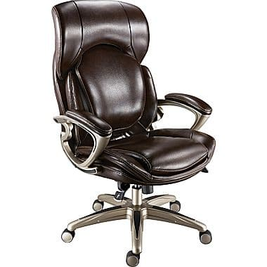 Staples Air High-Back Bonded Leather Manager's Chair, Chocolate - reg $299.99, clearance $32.50 B&M YMMV
