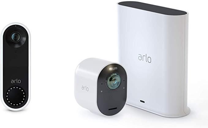 Arlo Ultra - 4K UHD Wire-Free Security Camera with Arlo Video Doorbell $378