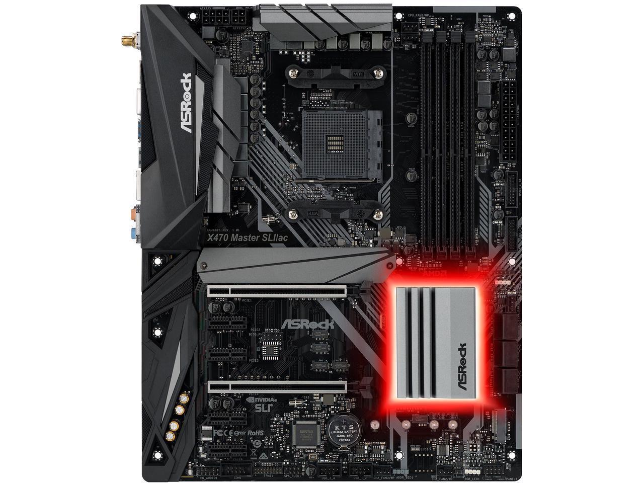 ASRock X470 Master  AM4 AMD Promontory X470 SATA 6Gb/s USB 3.1 HDMI ATX AMD Motherboard $100 AR @Newegg