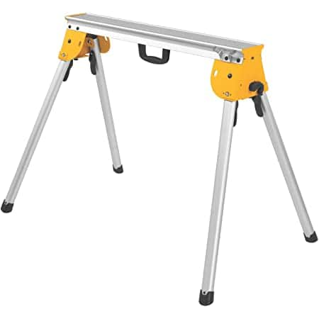 DEWALT Miter Saw Stand, Heavy Duty (DWX725) Can function as a Sawhorse too if you buy two. $84.97