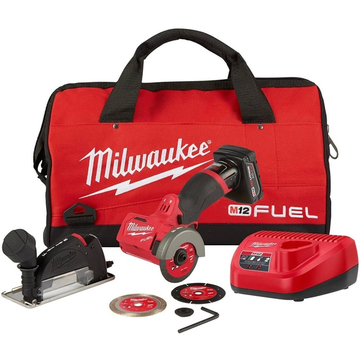 """Milwaukee M12 FUEL Brushless 3"""" Compact Cut Off Saw kit w/ 4Ah battery $149"""