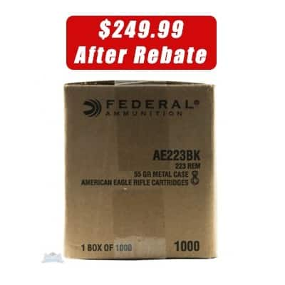 American Eagle 223, 1000 rounds $250 free shipping after rebate!