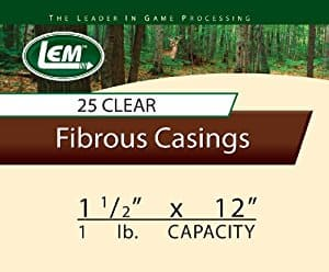 "Summer sausage casings LEM 1-1/2""x 12 for 25.  $11.99"