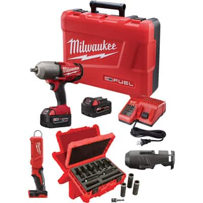 Milwaukee M18 FUEL 1/2in. Impact Wrench Kit 2763–22NTE $399.00 shipped No Tax for Most