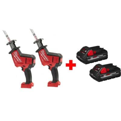 Milwaukee Fuel M18 Hackzall Reciprocating Saw 2 - Tool with 3.0 Ah battery 2 - pack $299 HomeDepot