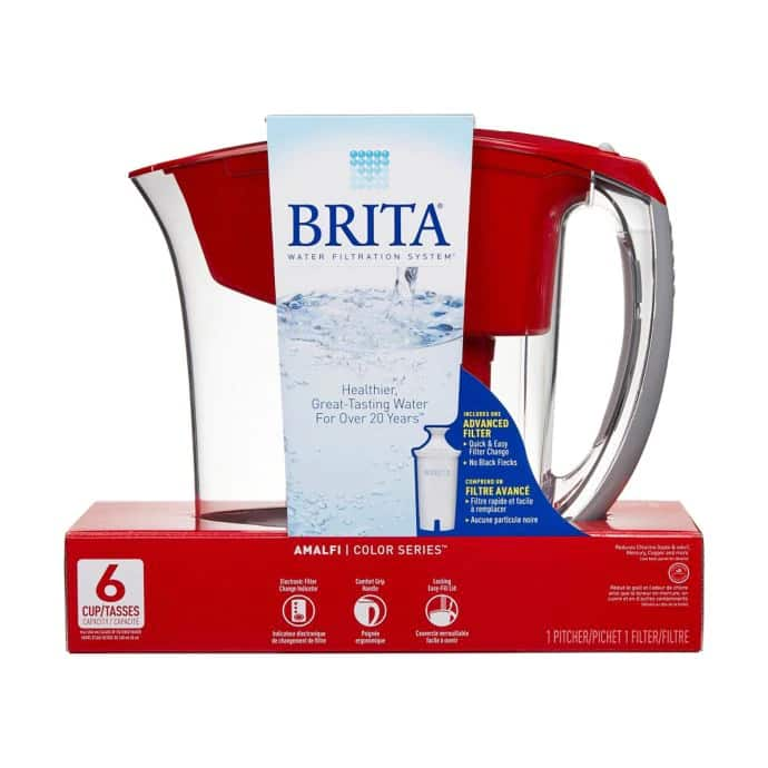 Brita 6 Cup Water Pitcher in Red (in store pickup) $13