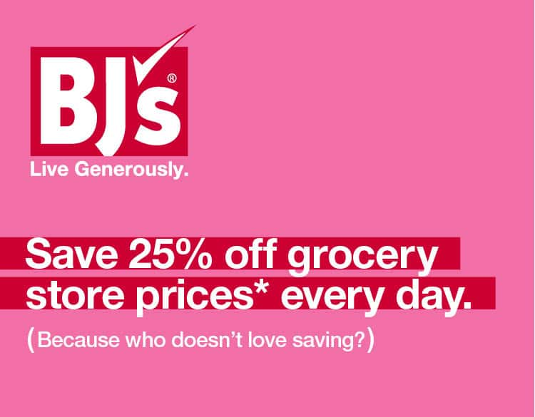 BJ's Membership $25 for 12 month. $5 for 3 months.