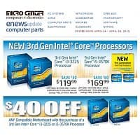 Micro Center Deal: Micro Center B&M - Intel 3570K processor back down to $169.99 and $40 off compatible motherboard