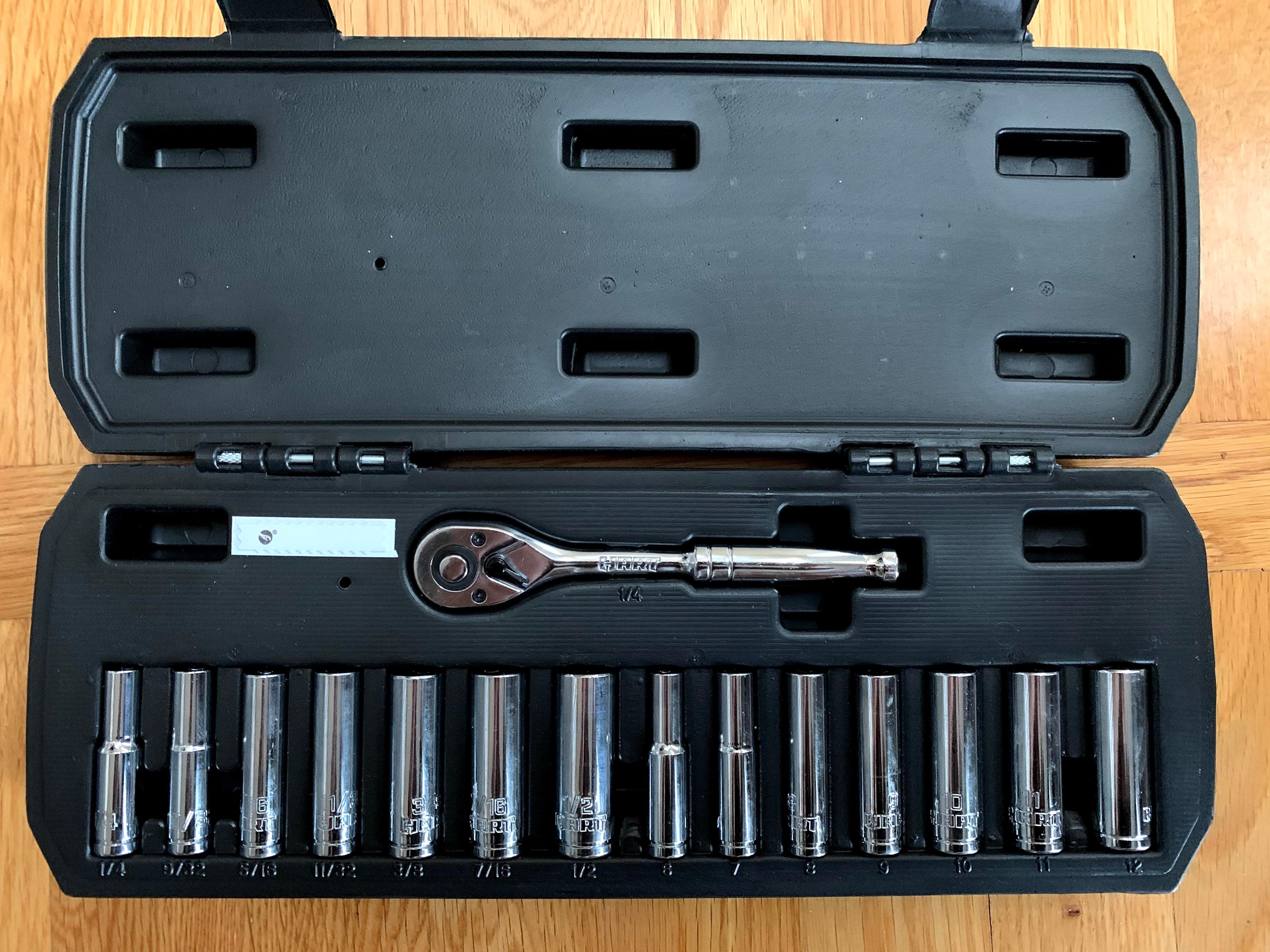 HART 15-Piece 1/4-inch Drive Deep Socket Set with Ratchet, Chrome - Walmart B&M local pickup $10