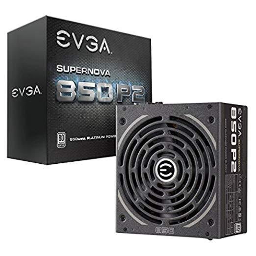 EVGA SuperNOVA 850 P2, 80+ PLATINUM 850W, Fully Modular, EVGA ECO Mode, 10 Year Warranty, Includes FREE Power On Self Tester, Power Supply 220-P2-0850-X1 [P2] $109.99
