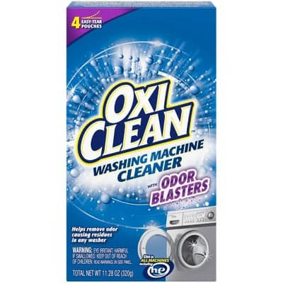 OxiClean Washing Machine Cleaner with Odor Blasters, 4 Count $3.39