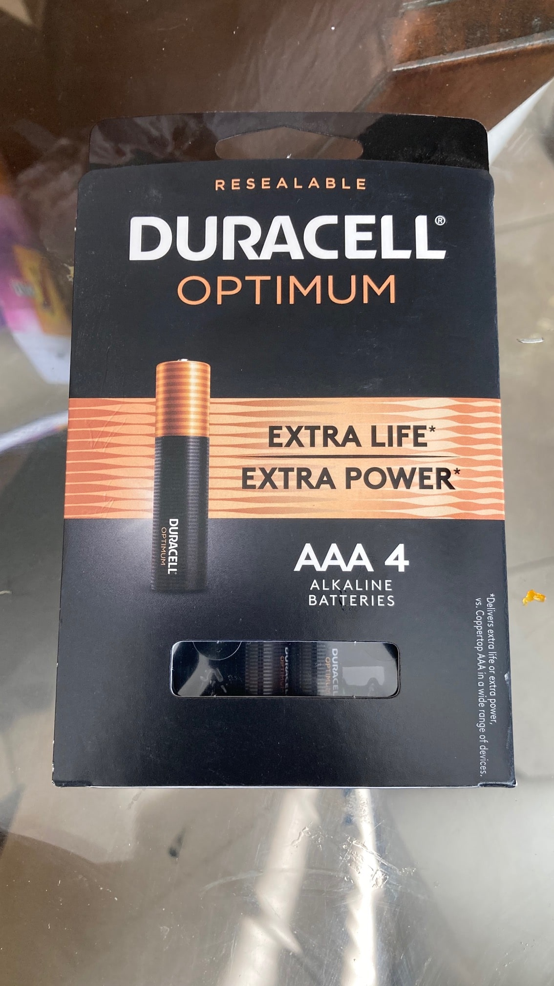 Duracell Optimum AA and AAA 4pack YMMV $0.01 b&m at Home Depot