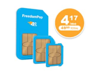 Freedompop $49.99/yr 1000min/text/MB