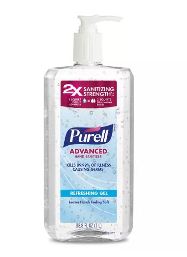 Purell 33oz Pump -  $5.49 @ Target (ships w/ $25+ orders)