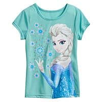 Kohls Deal: Girls Frozen t-shirts sizes 4-6x - 5.59 each shipped - Kohls chargeholders