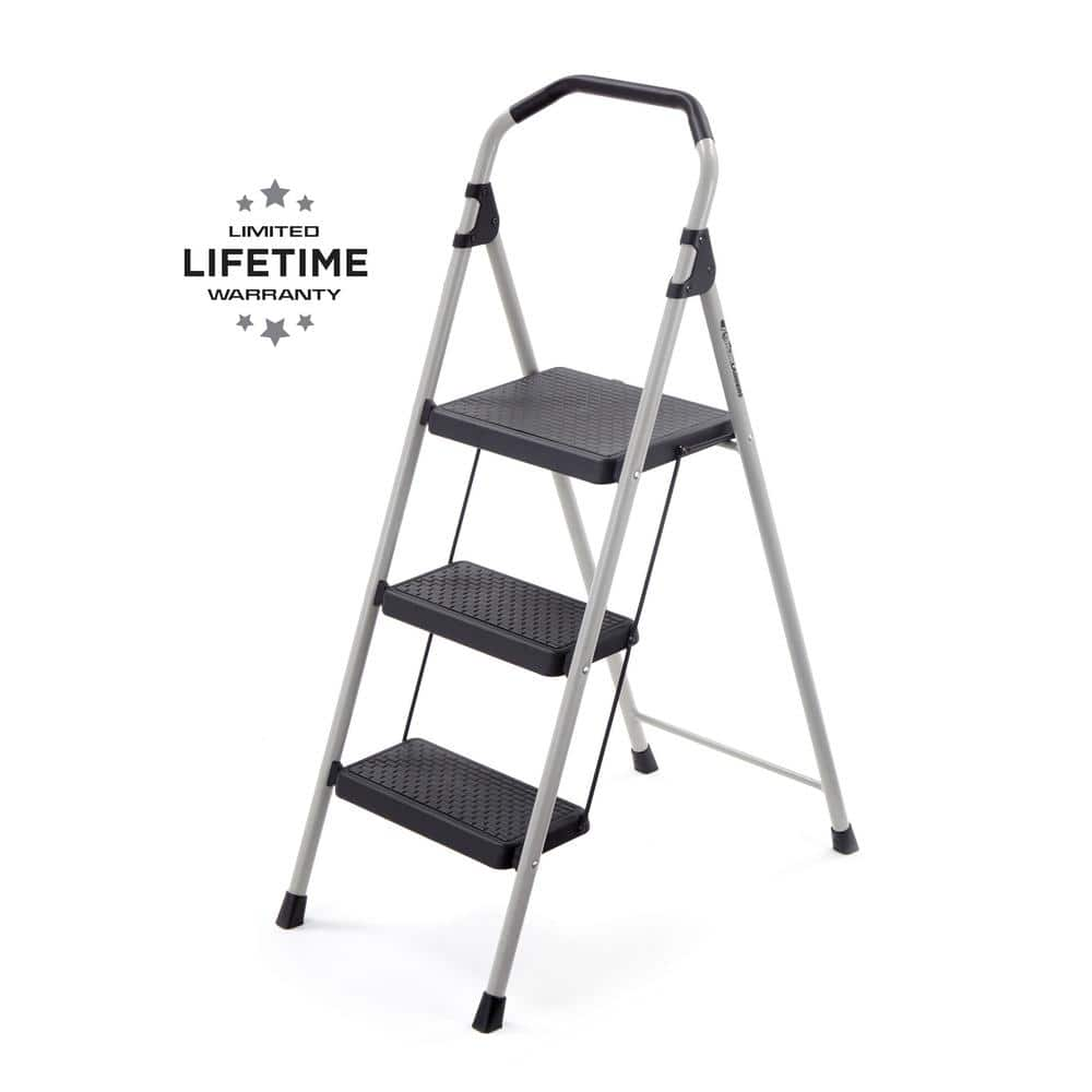 Home Depot -  Gorilla Ladders 3-Step Lightweight Steel Step Stool Ladder with 225 lbs. Load Capacity Type II Duty Rating - $19.99