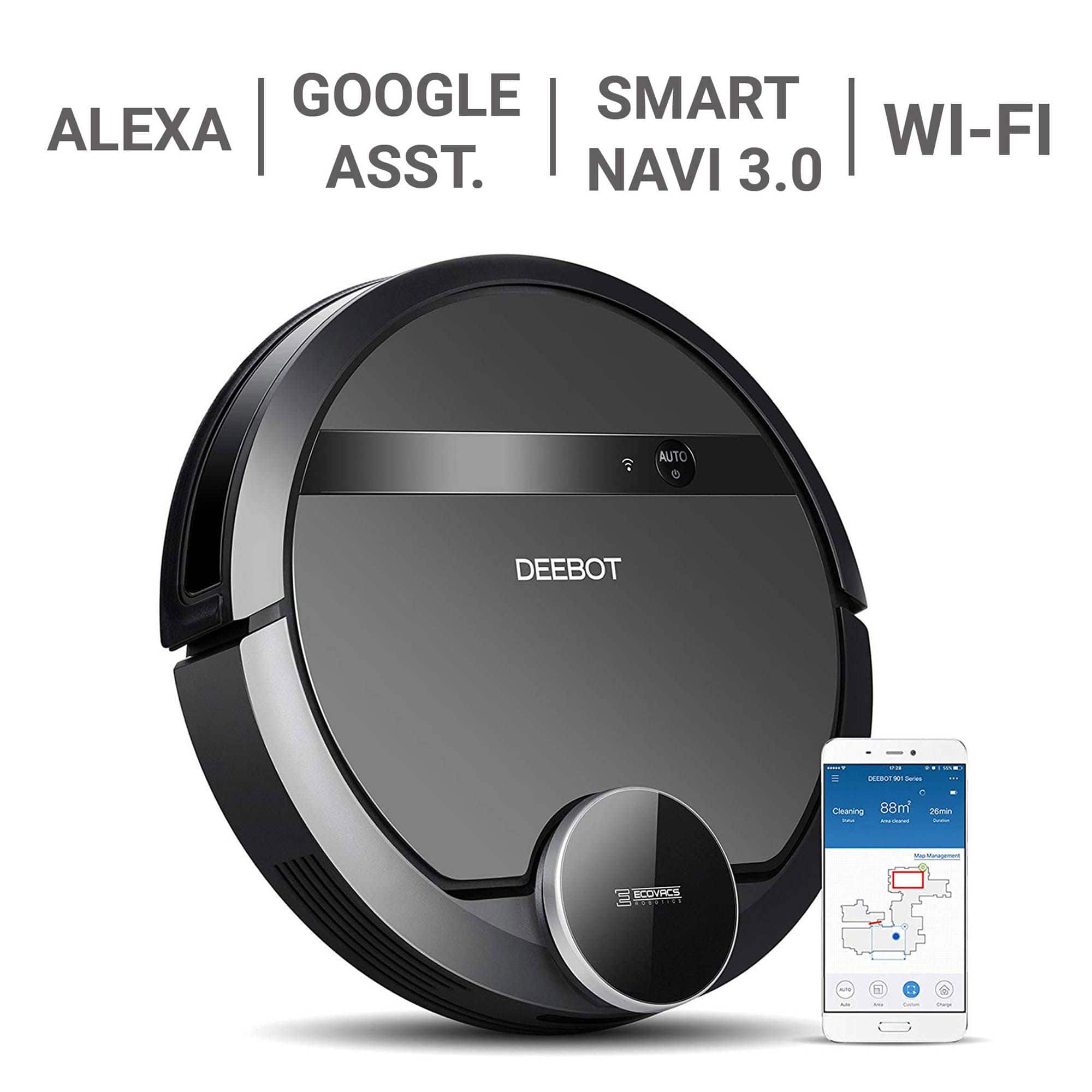 ECOVACS DEEBOT 901 Smart Robot Vacuum with Mapping for $189.99 @ BJs.com