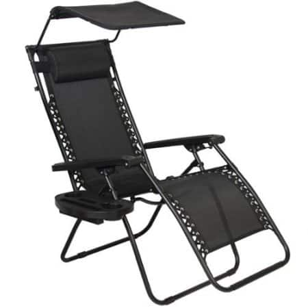 Zero Gravity Recliner Lounge Chair With Canopy Shade & Magazine Cup Holder  - $19.99 @ WalMart.com