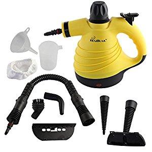 Haitral HT-KS2713Y Multi-Purpose Pressurized Handheld Steam Cleaner, Yellow - $16 AC on Amazon