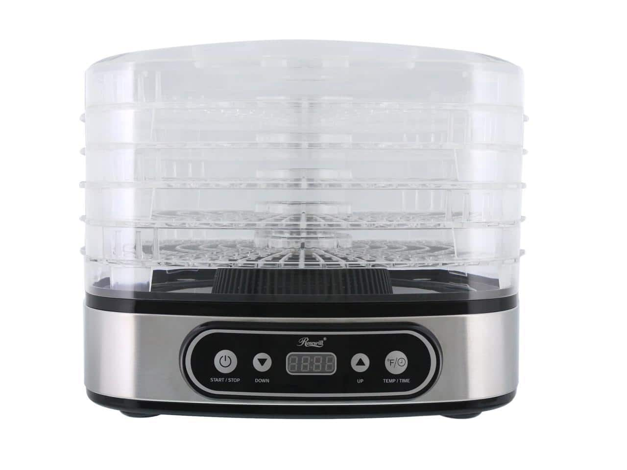 Rosewill RHFD-19001 Food Dehydrator Machine 5-Tray Stackable Dehydrating Racks with Adjustable Height $29.99