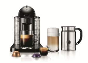 Nespresso VertuoLine Coffee and Espresso Maker with Aeroccino Plus Milk Frother, Black and $75 club credit - $138 Amazon