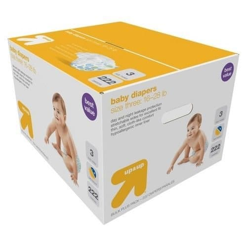 3x Up and Up Diapers Giant Pack + 20 Target GC - $82.62 Shipped w/ RC