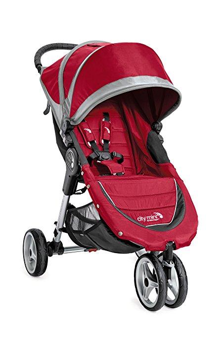 Baby Jogger 2016 City Mini 3W Single Stroller - Crimson/Gray - $170 Amazon