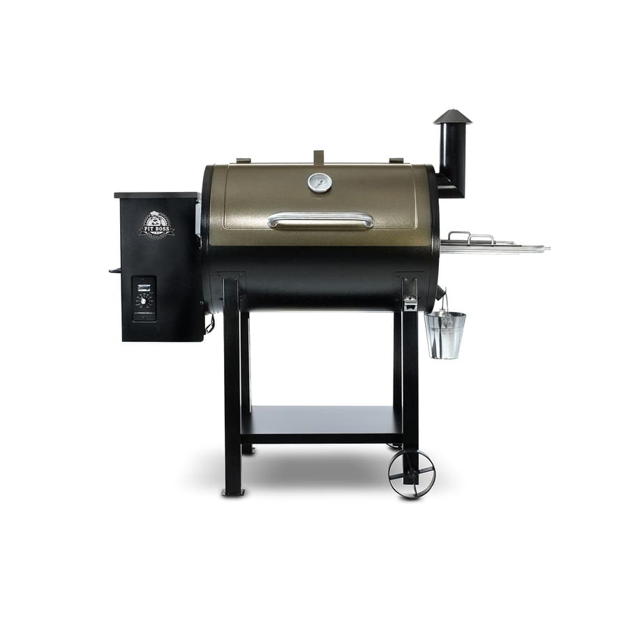 Pit Boss 575-sq in Two-Tone Copper and Black High Temperature Powder Coat Pellet Grill - $440
