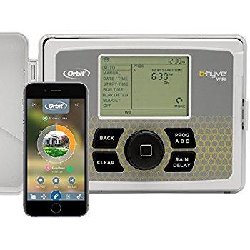 Orbit 57946 B-hyve Smart Indoor/Outdoor 6-Station WiFi Sprinkler System Controller (Alexa Compatible) - $68.99