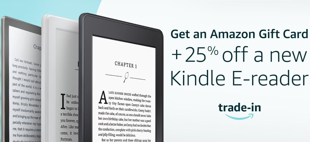 25% off Kindle Oasis and Voyage with Trade-In of ANY Kindle E-Reader (Even Broken)
