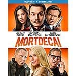 Mortdecai Blu-Ray+Digital HD $7.99 FSSS