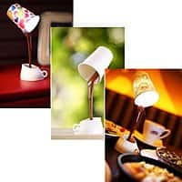 Hobo Ninja Deal: Magic Floating Pouring Coffee Cup Desk Lamp - $6.50 Free Shipping HoboNinja