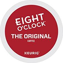 "Eight O'Clock Coffee K-Cup Pods, ""The Original"" Medium Roast Coffee, 72 Count $16.72 Amazon Warehouse"