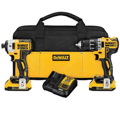 DeWalt MAX XR Brushless Drill & Impact Driver Combo Kit (DCK283D2R Refurb) $135.99