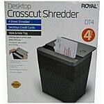 Sams Club: Royal DT4 Desktop Shredder