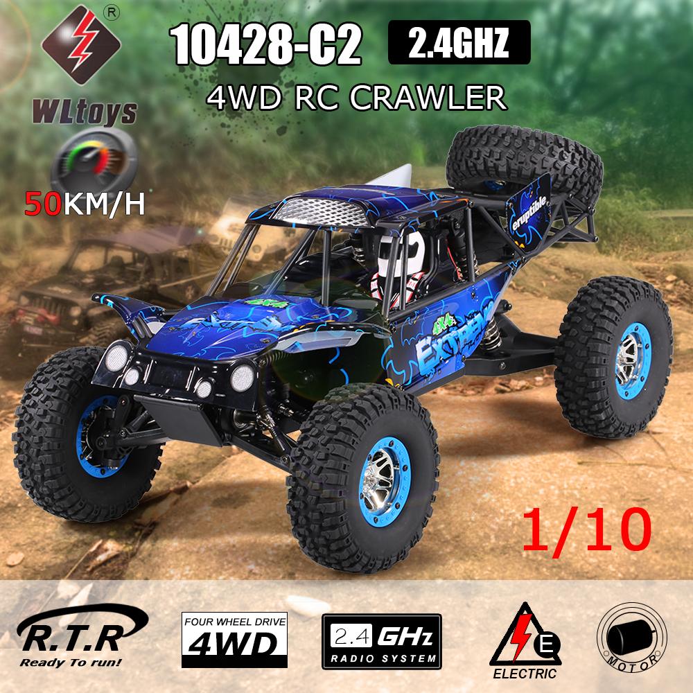 WLtoys 10428-C2 1/10 2.4G 4WD Electric Rock Crawler RTR $100