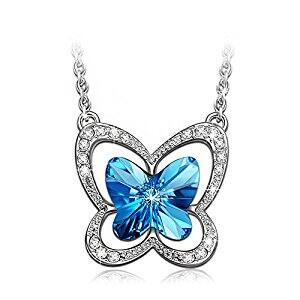 Butterfly Necklace Made with SWAROVSKI Crystals ($9.88 + Free Shipping)