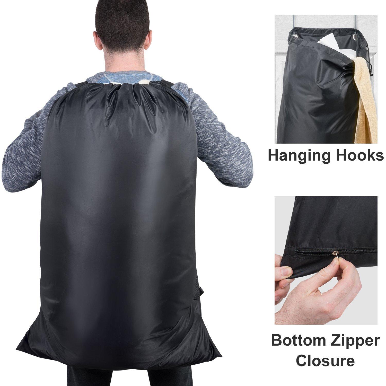 785b81073e9e Large Laundry Backpack, Washing Bag, with Door Hooks and 2 ...