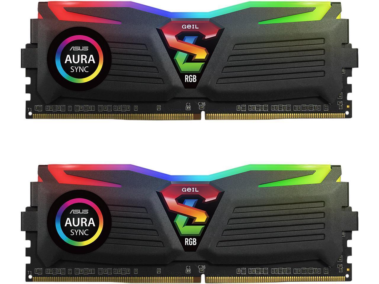 16 GB (2x8) GeIL SUPER LUCE RGB SYNC DDR4 3200 16GB Desktop Memory $59.99