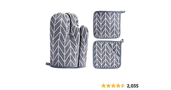 Oven Mitts and Potholders (4-Piece Set) - $8.48