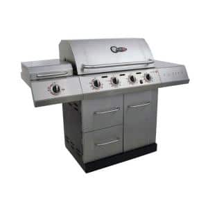 Char-Broil Gourmet 4 Burner TRU-Infrared Propane Gas Grille with Side Burner - $125.03 - WAS $449 - In Store Only!