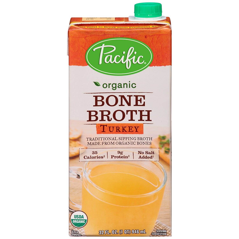 Pacific Foods Organic Bone Broth, Turkey, 32-Ounce Cartons, 12-Pack - $12.72