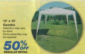 10u0027 X 10u0027 Gazebo Style White Canopy $15 - Rite Aid Bu0026M only & 10u0027 X 10u0027 Gazebo Style White Canopy $15 - Rite Aid Bu0026M only YMMV ...