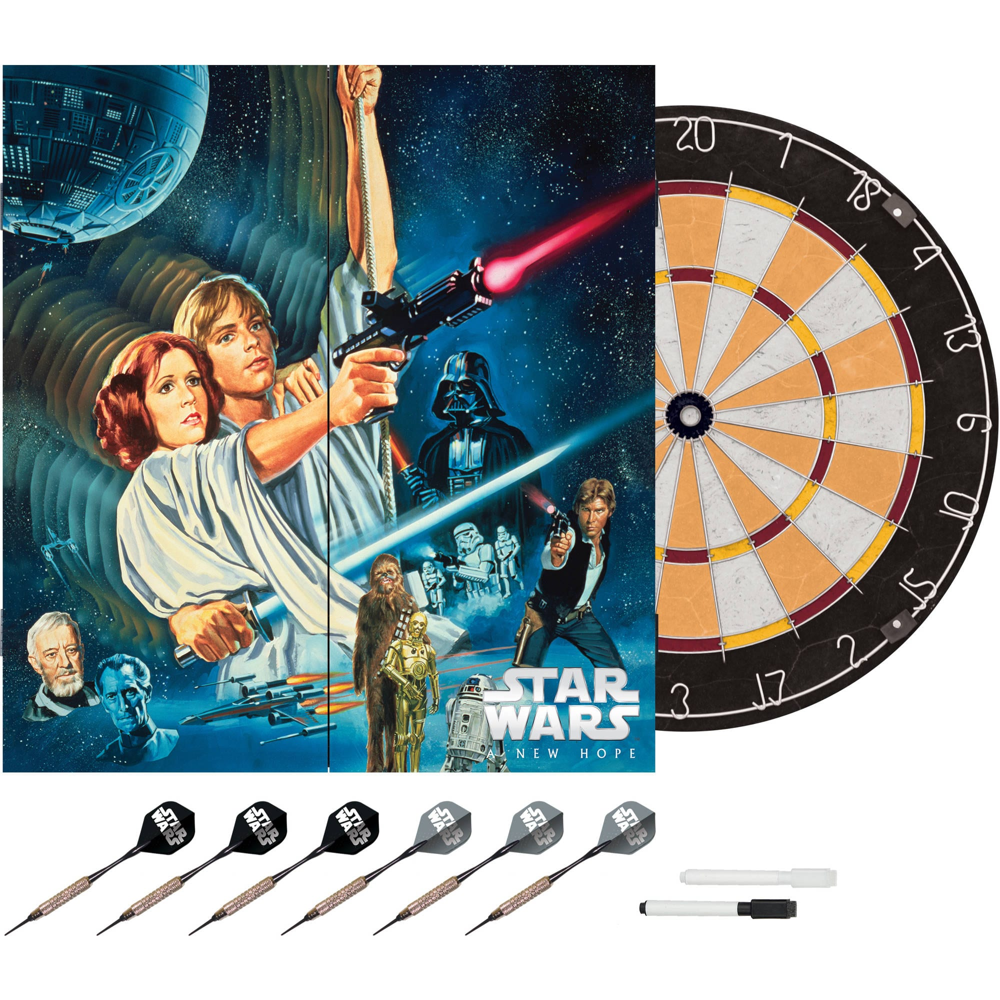 Star Wars Bristle Dartboard with Cabinet & Darts $21.97 @walmart.com