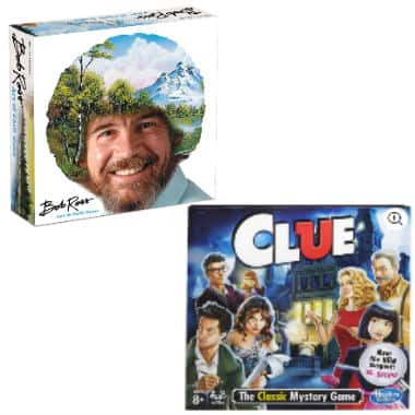 2-game bundle - Bob Ross: Art of Chill Board Game and Clue $15 at Walmart